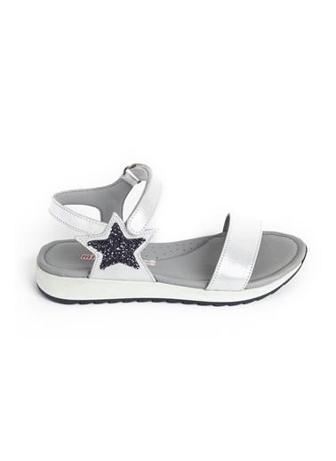 minipicco Minipicco Kız Cocuk  Deri Ortopedik Destekli Çocuk Sandalet Beyaz